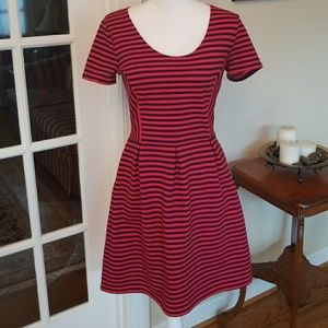Madewell red stripe summer dress size 4
